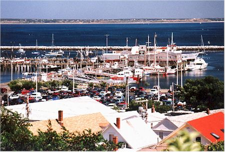 cc Boats at Provincetown Wharf and Rooftops.jpg (49042 bytes)